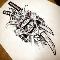Risultati immagini per samurai tattoo design a color