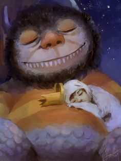 .Where the Wild Things Are, this would be such a cute painting for a bedroom