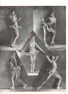 Josephine Baker in her bananas c.1927 - i just read an article about her for my divas class!