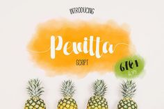 Pevitta By Katario  #font #script #bouncy #summer #fresh #pretty #craft #project #fontbundle #handletter #handlettering #caligraphy