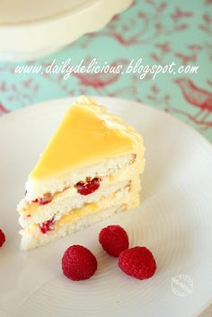 dailydelicious: Lemon-Raspberry Cake with Lemon Buttercream: Refreshing cake to brighten up your day.