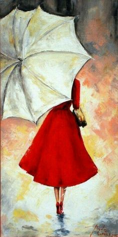Like to paint Umbrella Art, White Umbrella, Drawing Umbrella, Umbrella Painting, Acrylic Paint On Canvas, Simple Acrylic Paintings, Art On Canvas, Drawings For Girls, Couple Drawings