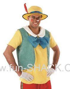 Mens Fairytale Puppet Fancy Dress Costume Fun Shack