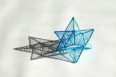 3D Stars sculpture
