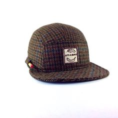 Five panel hat. Wintery- made from vintage wool.  ✎One of a kind- made and ready to ship. ✎Everything in this shop is handmade- stitched by us (
