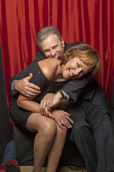 Hillary B. Smith and Robert S. Woods in the photo booth  (Photo Courtesy of Victoria Will / TV Guide Magazine)