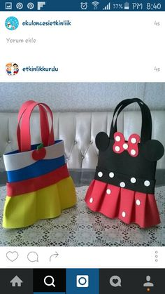 How To Make Tutu, Handbags Online Shopping, Puppet Crafts, Diy Bags Purses, Minnie Mouse Bow, Embroidered Bag, Sewing Projects For Kids, Purse Patterns, Girls Boutique
