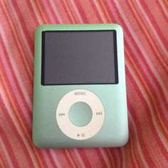 Green iPod nano 3rd generation 8gb. Has some music on it but can easily be deleted or kept Apple Accessories