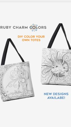 Color You Own RubyCharmColors tote bags! New designs added and more to come