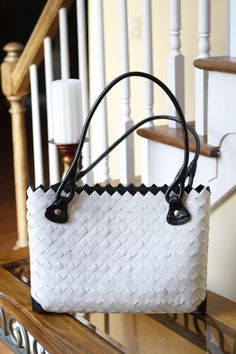 Black and White Candy Wrapper Purse. $95.00, via Etsy.