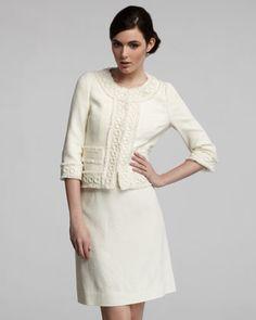 Cream Skirt Suit