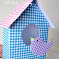 handmadecoco: Birdhouse paper scrap