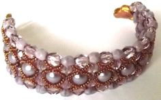 FREE SHIPPING Spring lilac elegant  refined  bracelet by Mamyblue, $55.00