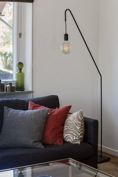 Clean-lined floor lamp which suits perfectly next to living room sofas. Rod By Rydens. Scandinavian Table Lamps, Scandinavian Home, Eclectic Modern, Helsingborg, Royal Design, Modern Traditional, Shop Lighting, Home Decor Kitchen, Lamp Light