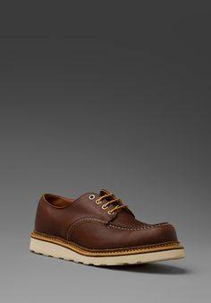 Red Wing Shoes Work Oxford in Mahogany