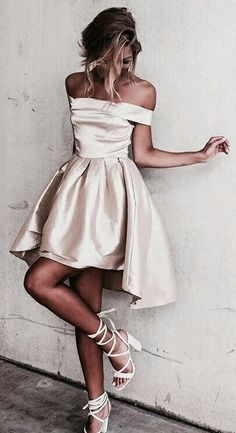 Discount Comfortable Champagne Homecoming Dresses Sexy Off The Shoulder Light Champagne Prom Dress,Short Prom Dresses,Short Homecoming Dress Homecoming Dresses High Low, Champagne Homecoming Dresses, Cute Prom Dresses, Dresses Short, Sexy Dresses, Dress Outfits, Dress Up, Dress Prom, Graduation Dresses