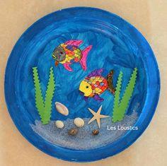 aquarium kleuterknutsel Toddler Crafts, Crafts For Kids, Arts And Crafts, Fabrication D'aquarium, Craft Activities, Preschool Crafts, Summer Activities, Aquarium Craft, Sea Aquarium