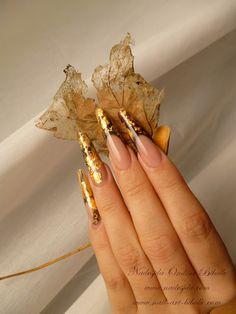 Bibulle Blog Nail Art: Nail art de la Vouivre - Reptile d'or déstructuré..
