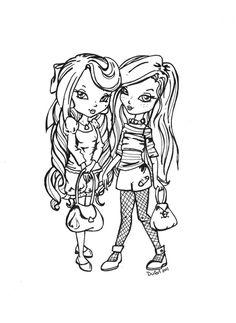 Sweet Lolita and Punk Lolita by *JadeDragonne on deviantART