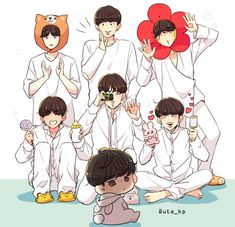 Fanart de BTS Y Ships de BTS: Namjin Yoonmin Vmin Vkoo… # Fanfic # amreading # books # wattpad Bts Jungkook, Namjoon, Taehyung, Seokjin, Bts Chibi, Fanart Bts, Jungkook Fanart, Foto Bts, Bts Memes