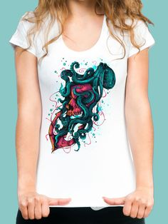 """Keepers of the Sea"" By Lou Patrick Mackay #amazingtees #artclothes #seaanimals #illustration #fullcolor #Teestostadora"