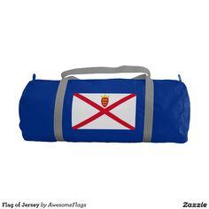 Flag of Jersey Gym Duffel Bag