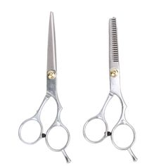 2pcs Professional Barber Hair Scissors 5.5/6.0 inch Cutting Thinning Scissors Shears Hairdressing Styling Tool Stainless steel