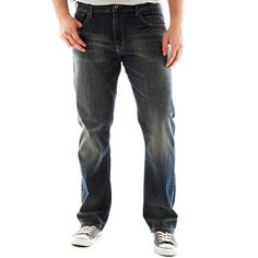 Lee Men's Big-Tall Modern Series Relaxed Straight Jean with Comfort Waist, Santiago