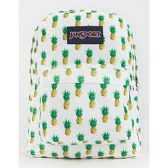 JanSport SuperBreak Backpack ($41) ❤ liked on Polyvore featuring bags, backpacks, white combo, jansport bags, rucksack bag, day pack backpack, jansport backpack and polyester backpack