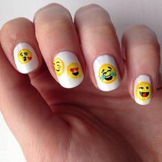 Day 04 of #tippedoffnailartchallengejuly emoji nails