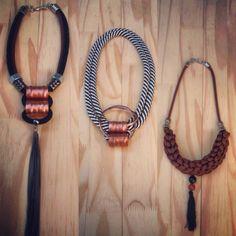 adedo acessórios colares corda metais