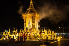 Photo: Funeral Cremation of a Monk in Laos