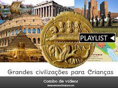 Vídeos didáticos, e atrativos sobre as principais civilizações antigas! Não dá pra perder.