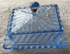 Blue-Bagley-Ware-glass-cheese-dish-Art-Deco