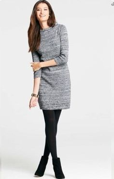 Women's Business Casual Sweater Dress | Like this idea for fall or winter attire!