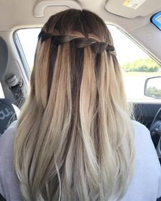 This is my hair. Ombré with waterfall braid