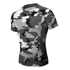 Sale 23% (12.88$) -  Men Base Layer Camouflage T Shirt Fitness Tights Quick Dry Clothing Male