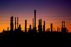 Industrial Shadows by Westen Thomas on Capture Minnesota // Pine Bend Refinery in Rosemount, MN at twilight.