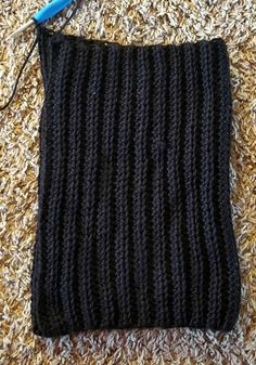 This Black Beanie Crochet Pattern has a classic design, but is made a little differently than your typical crocheted hat. It's worked as a rectangle and then sewn into a hat. Ribbed Crochet, Easy Crochet Hat, Crochet Beanie Pattern, Crochet Dolls, Crochet Yarn, Crochet Patterns, Crochet Feather, Shrug Pattern, Crocheted Hats