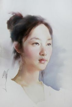 Liu Yi Chinese - notice the use or lack of use of background around the head, how the shoulders fade out to make the face the focal point