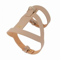 lucca leather dog harness beige by Moshiqa $180.00  #moshiqa #bitchnewyork #beige #leatherdogharness #dog #dogharness