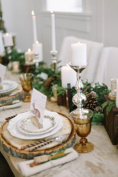 Greenery and Wood Tabletop - Elizabeth Anne Designs: The Wedding Blog