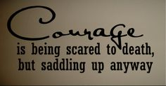 Wall Decal Quote Courage Horse Bull Rider Western | eBay