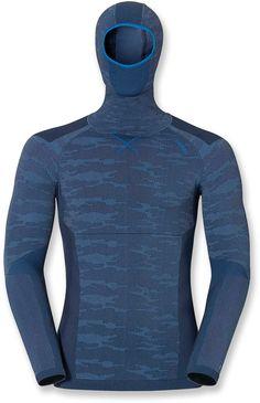 Odlo Male Bc Evo Warm Long Underwear Top W/ Face Mask - Men's