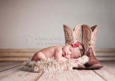 with daddy's (or mommy's!) cowboy boots