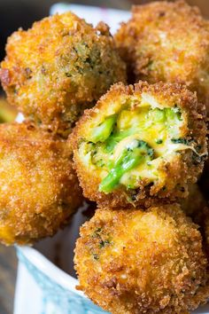 Fried Broccoli Cheese Balls  #keto #ketorecipes #glutenfree #lowcarb #healthyrecipes #healthyliving