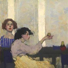 "Milt Kobayashi | ""Careful Look"", oil on canvas, Bohemia Galleries"