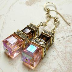 handmade earing | ... Hoop Earrings, Sapphire Gemstone, Handmade Jewelry. From fineheart