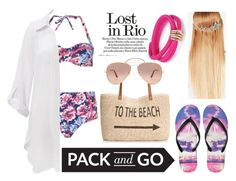 """""""Pack and Go : Rio"""" by iglifenevereasy ❤ liked on Polyvore featuring John Lewis, Dorothy Perkins, Beauty & The Beach, Style & Co., Aéropostale, Ray-Ban and de Grisogono"""