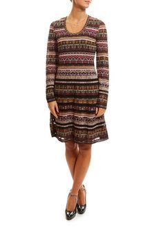 M Missoni Long Sleeve Pink And Black Pattern Dress Pattern Dress, Dress Patterns, Purple Beach Dresses, Jumpsuit Dress, Black Pattern, Dresses Uk, Outerwear Women, Missoni, Fashion Boutique
